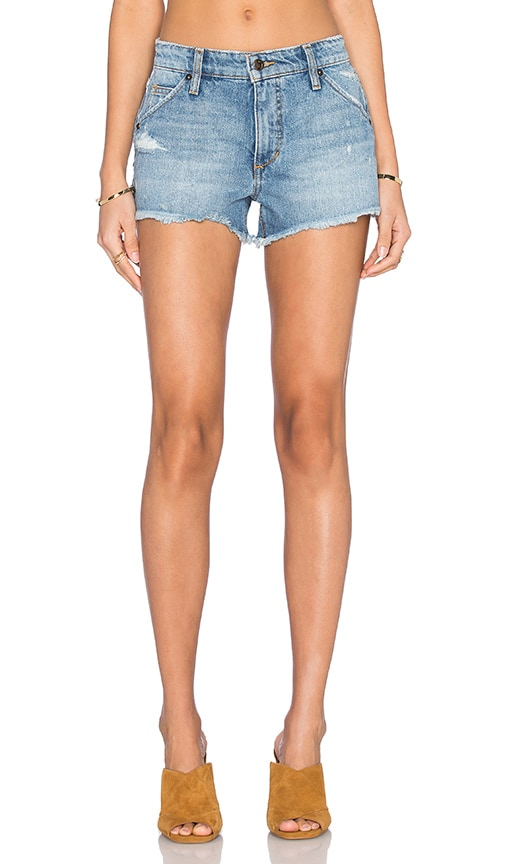 Joe's Jeans Mazie Collector's Edition The Wasteland Short in Medium & Light Blue Distressed