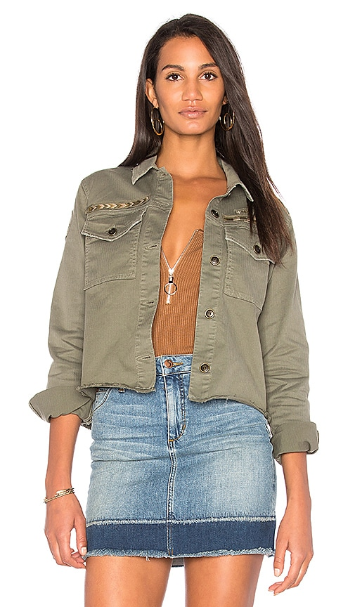Joe's Jeans The Military Crop Jacket in Army