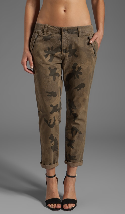 Straight Ankle Camo Trouser