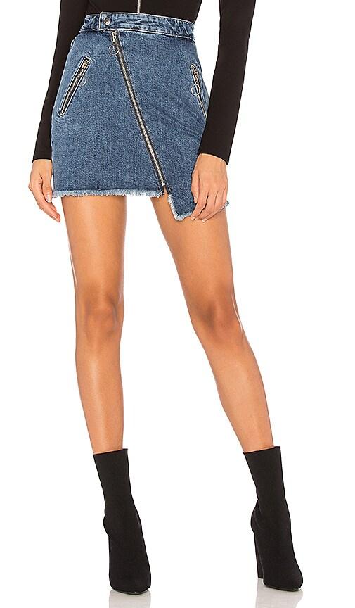 Joe's Jeans Asymmetrical Zipper Skirt in Karla