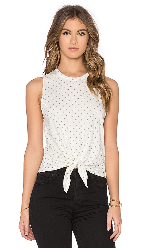 Joe's Jeans Star Knot Tank in Black & White Vintage Star Print