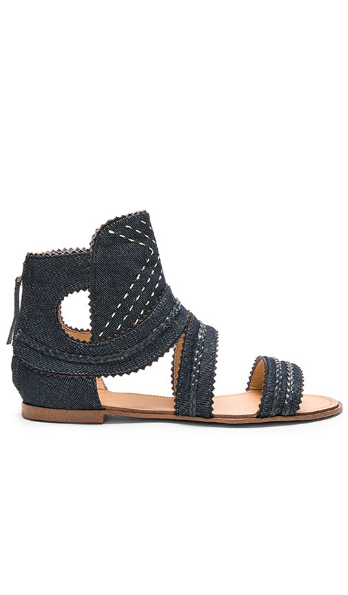 Joe's Jeans Tahoe Sandal in Blue Denim