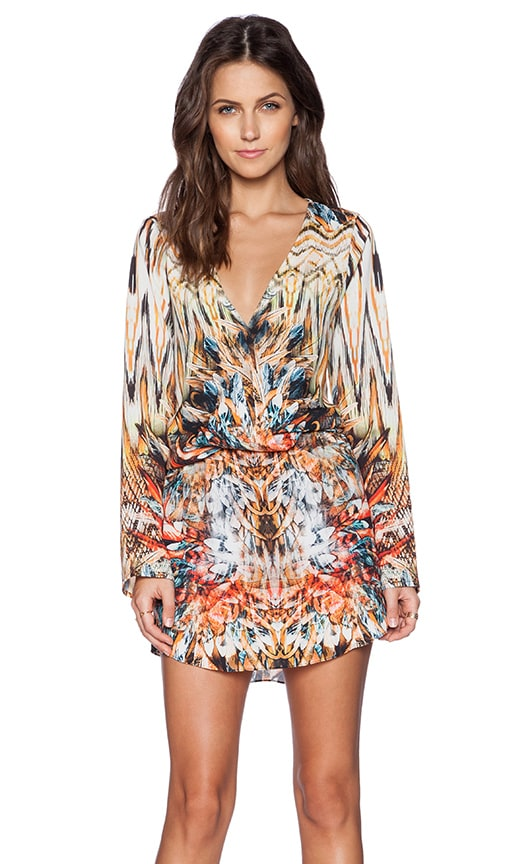 Johanne Beck Olivia Dress in Fire Feather