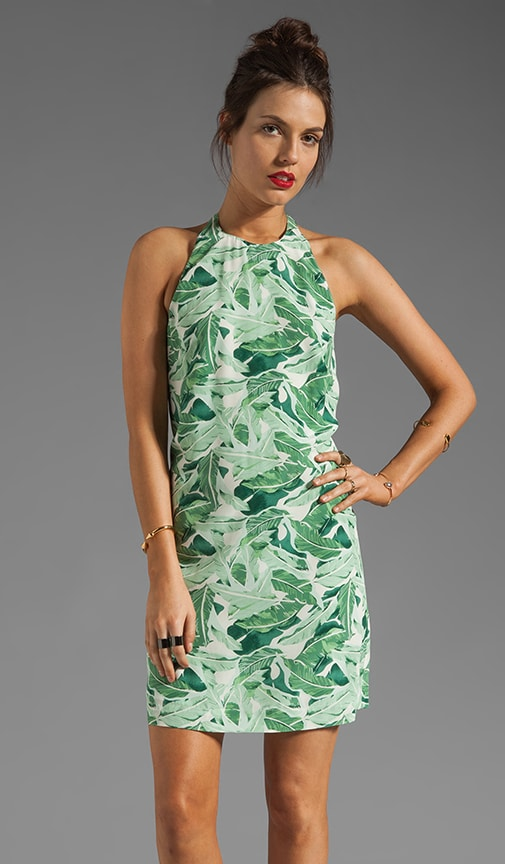 Florinda Palm Printed Dress