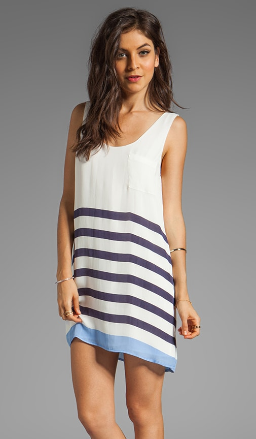 Dawna Stripe Print Dress