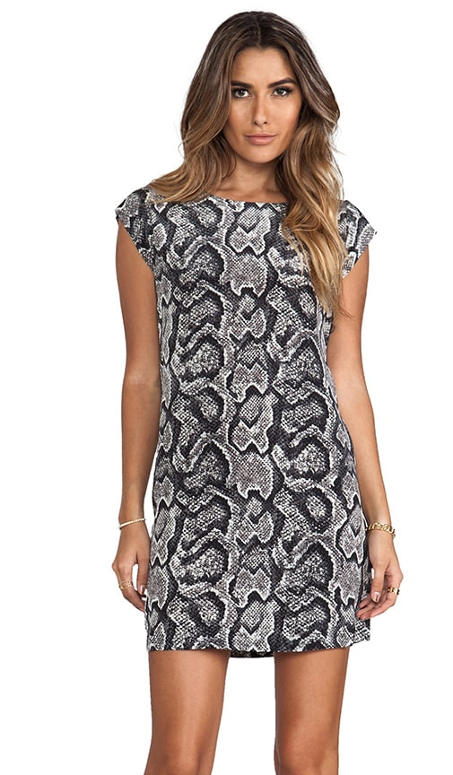 Snake Skin Printed Savory Weaver Dress