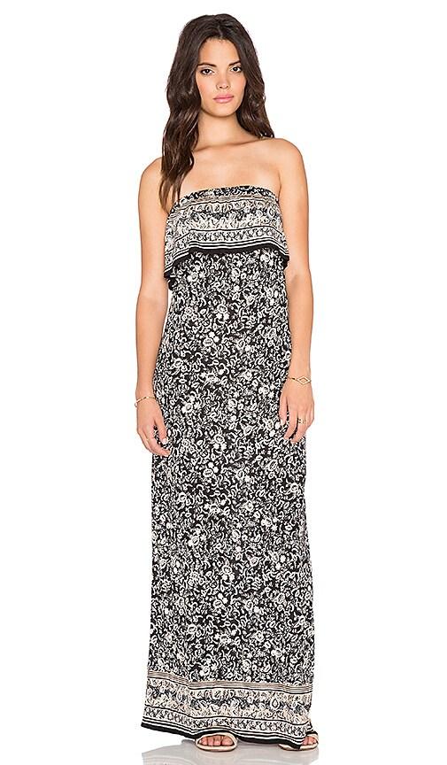 Joie Gilmore Maxi Dress in Caviar & Sandstone