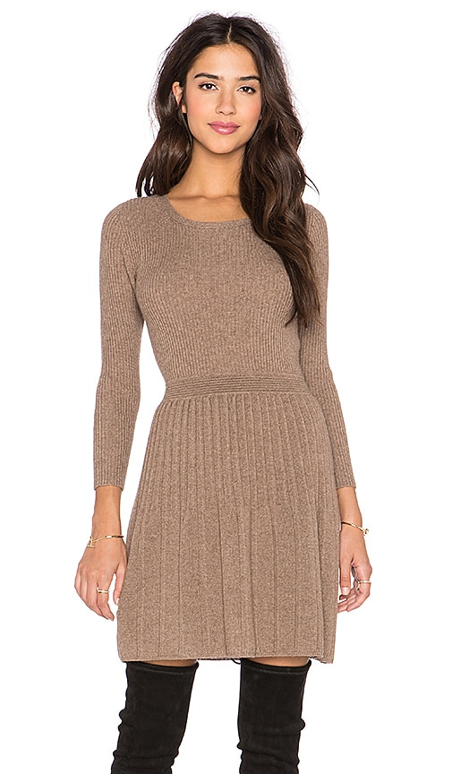 Joie Peronne Long Sleeve Sweater Dress in Heather Mahogany