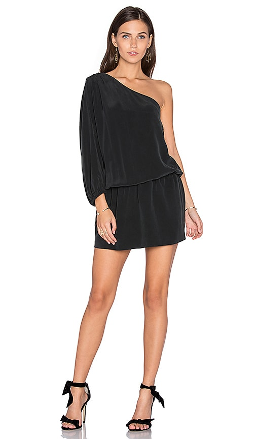 Joie Ashton One Shoulder Dress in Black