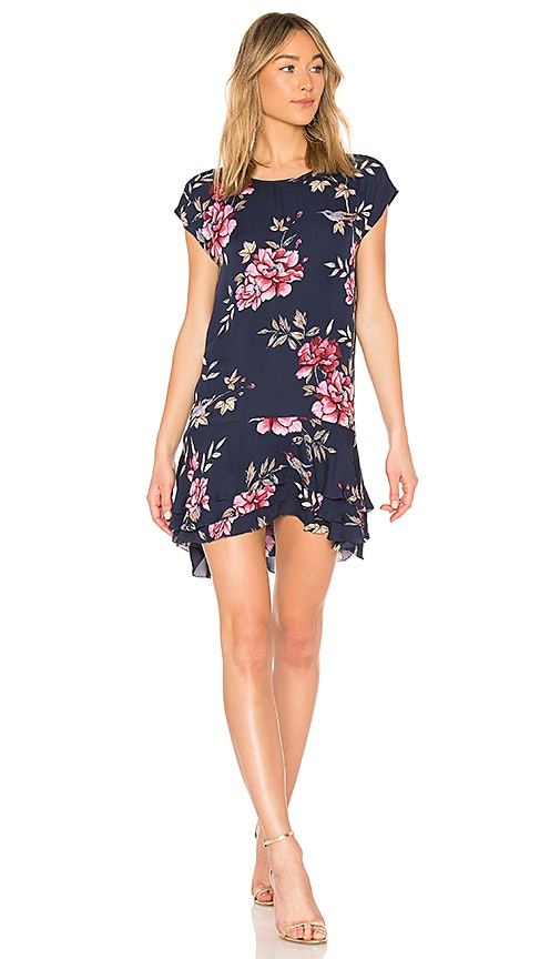 Joie Coreen Floral Mini Dress in Navy