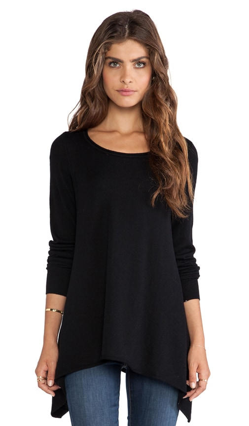Letitia B Asymmetric Hem Sweater
