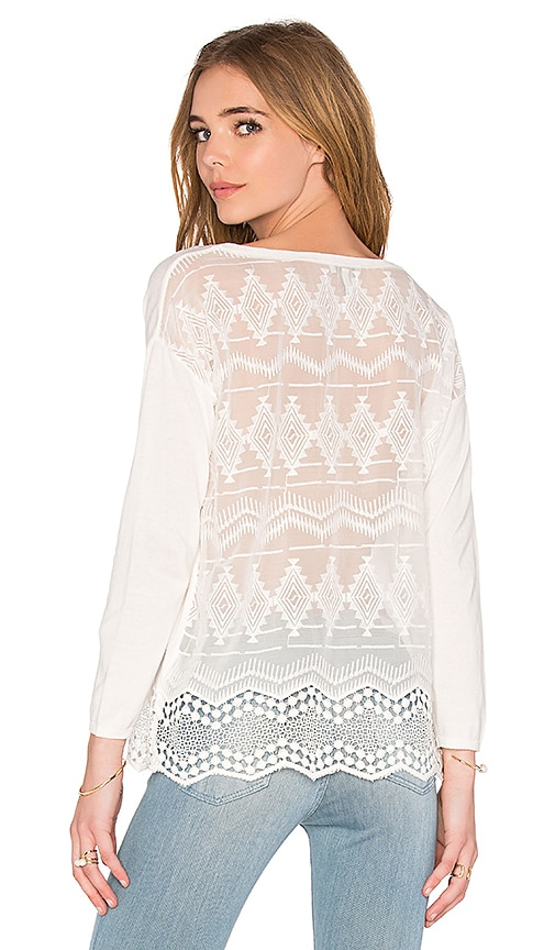 Joie Geolace Sweater in White
