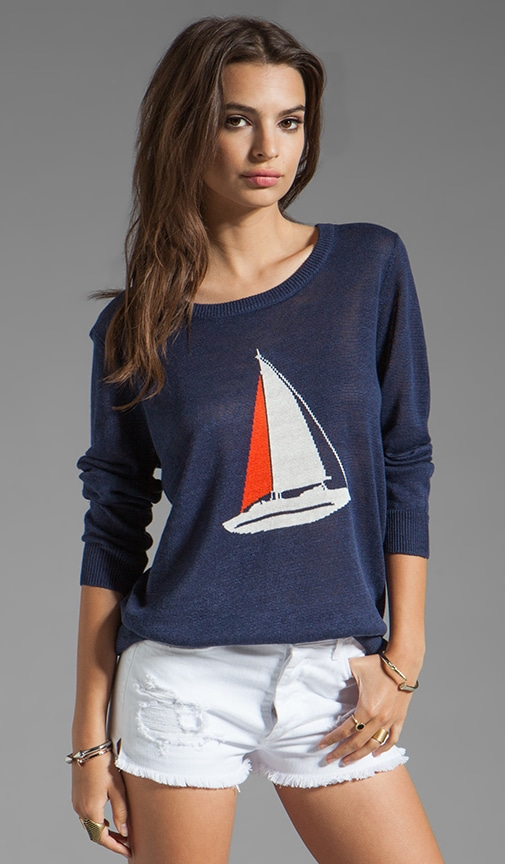 Evaline Nautical Intarsia Sweater