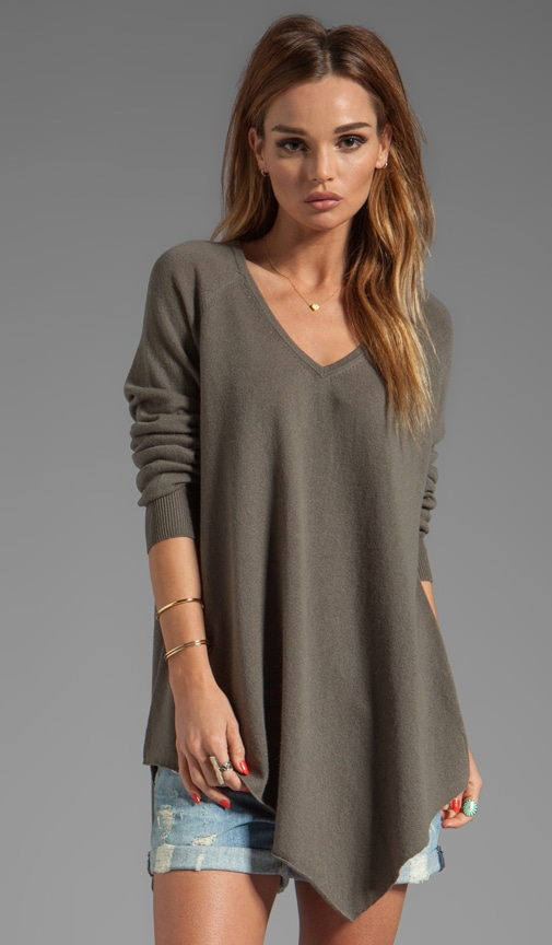 Solid Wool Cashmere Shatoria Sweater