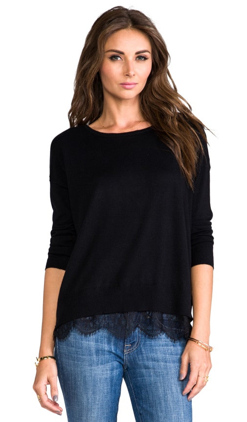Hilano Sweater with Lace Trim