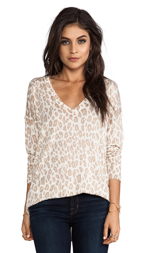 Chyanne Bold Leopard Print Pullover