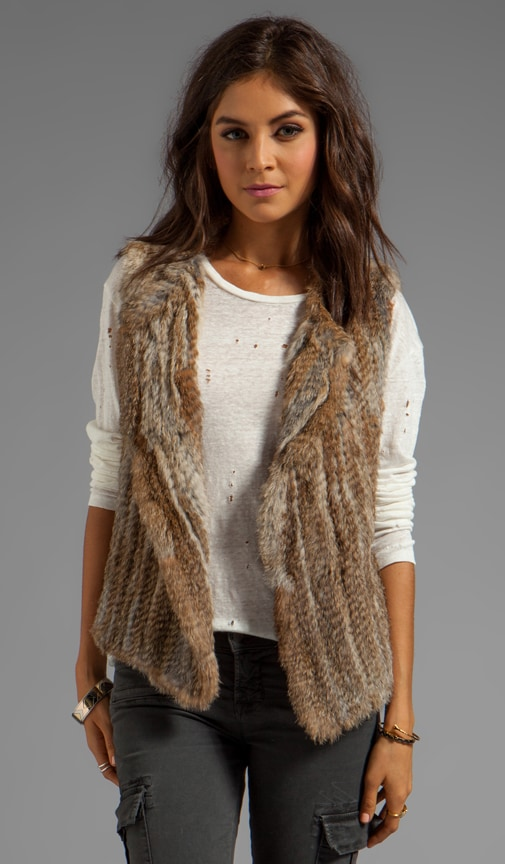 Knitted Rabbit Fur Andoni Vest