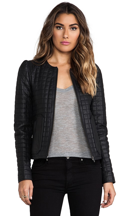 Quilted Alessia Leather Yetta Jacket