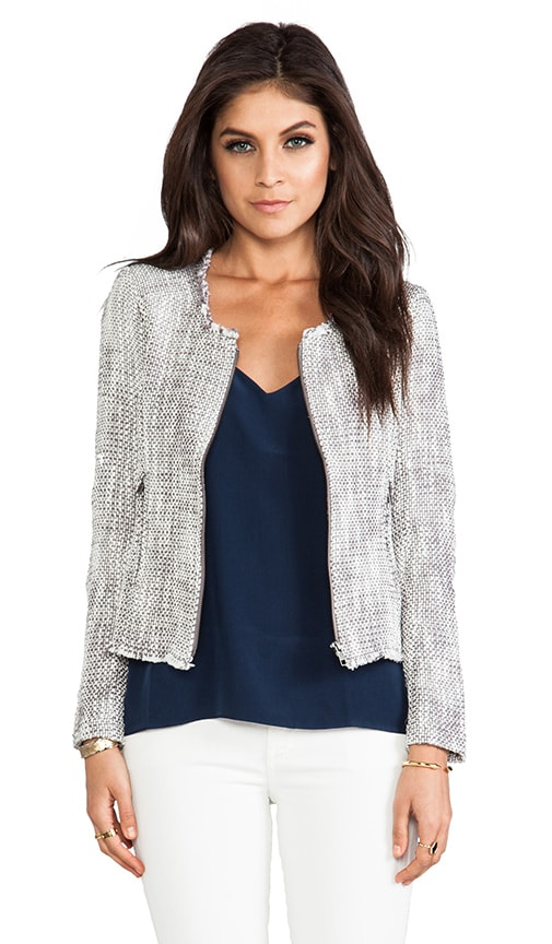 Two Tone Tweed Collis Jacket