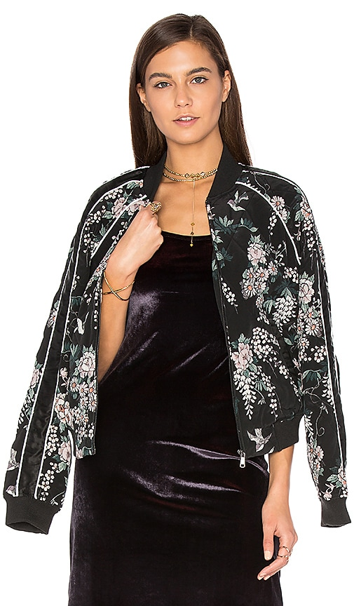 Joie Mace Bomber Jacket in Black