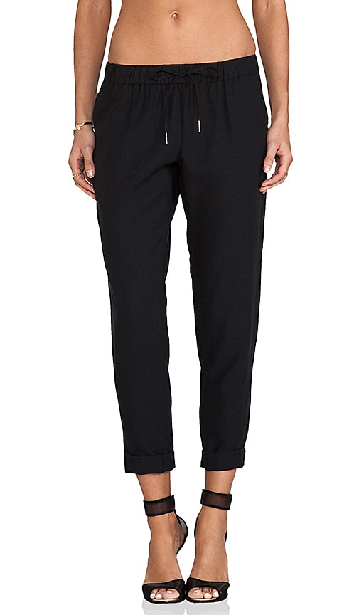 Joie Edana Tencel Linen Pant in Black