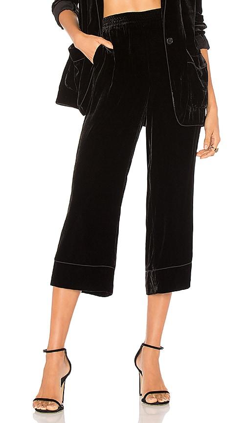 Joie Kaitrine Velvet Pant in Black