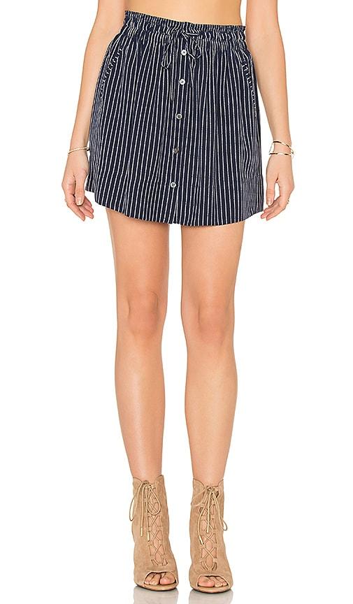Joie Wendolyn Silk Skirt in Dark Navy