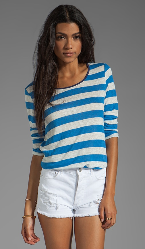 Mandreon Deck Stripe Linen Tee