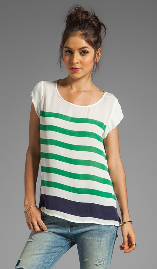 Terry Stripe Print Top