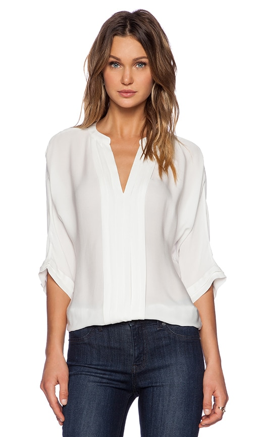 Joie Matte Silk Marru Top in White