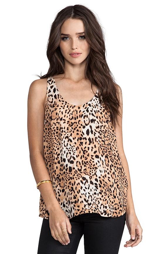 Gradient Leopard Print Silk Drew C Tank