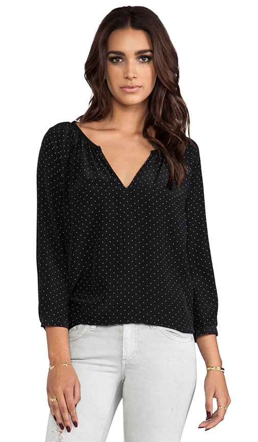 Balisa Polka Dot Silk Blouse
