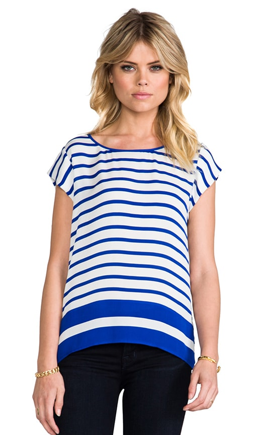 Terry B Striped Matte Silk Top