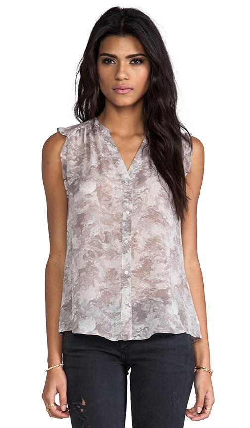 Fayanna Printed Silk Top