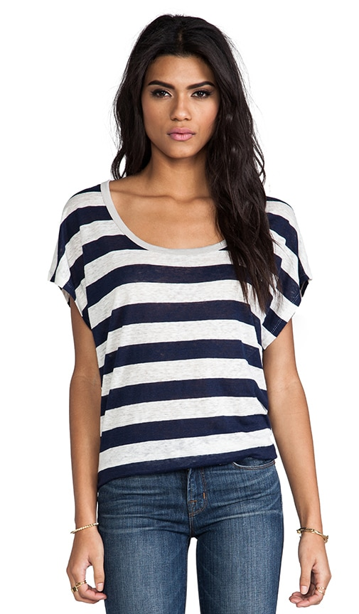 Maddie Striped Linen Tee