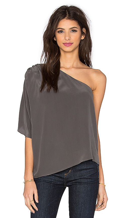 Joie Ramiera One Shoulder Sleeve Top in Steel