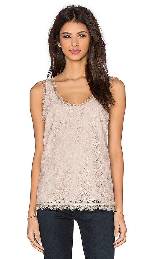 Joie Brinx Lace Tank in Taupe