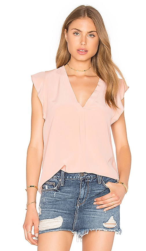 Joie Jentri Silk Blouse in Pink