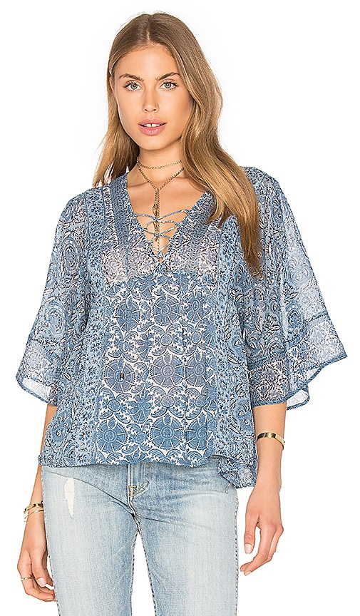 Joie Scorpio Silk Blouse in Blue