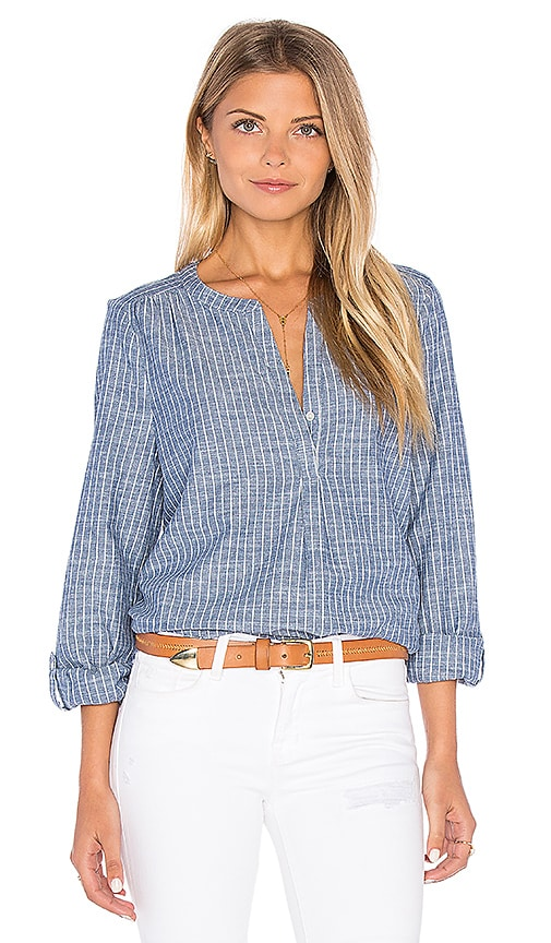 Joie Kalan Chambray Blouse in Blue