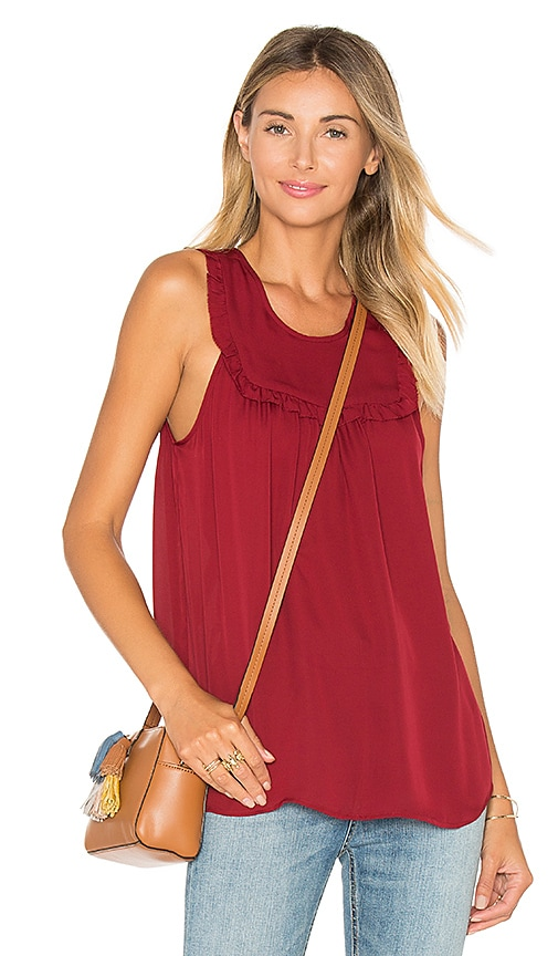 Joie Gemini Silk Tank in Red