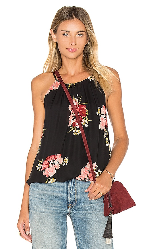 Joie Anatase B Silk Tank in Black