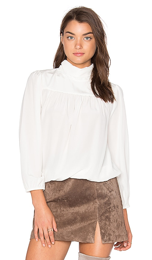 Joie Lively Silk Blouse in White