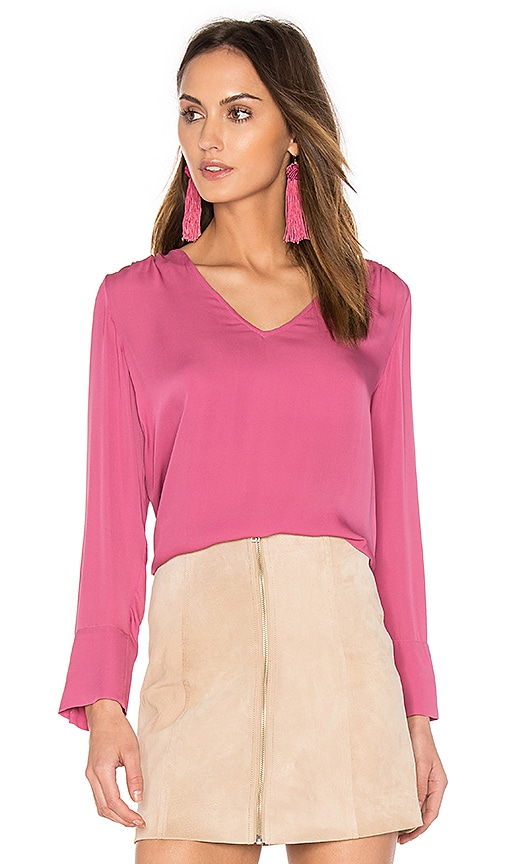 Joie Theda Blouse in Fuchsia