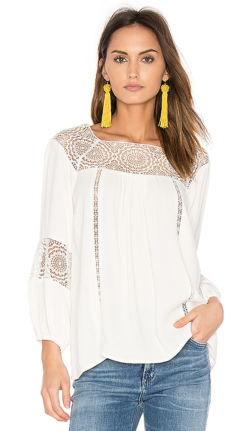 Joie Bellange Blouse in Ivory