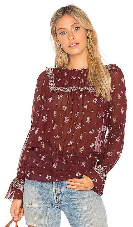 Joie Adrielle Blouse in Red