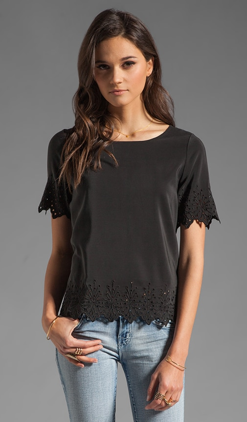 Florine Eyelet Embroidery Top