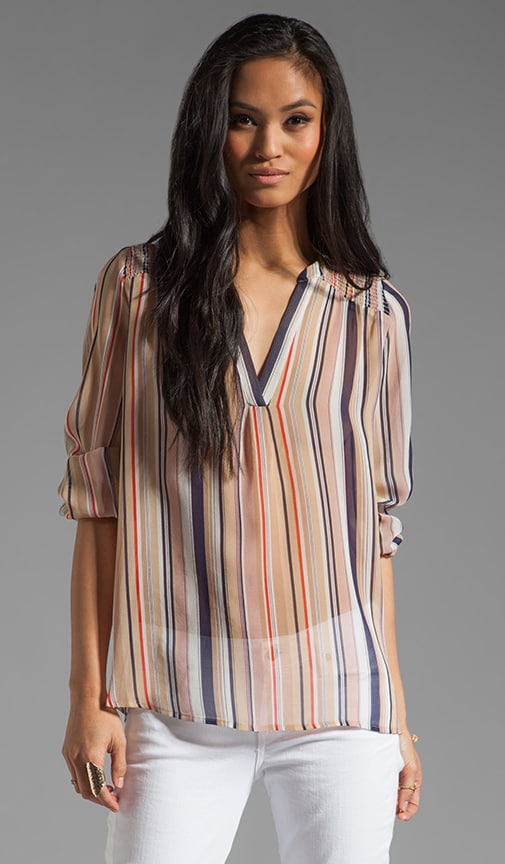 Carlene Stripe Print Top