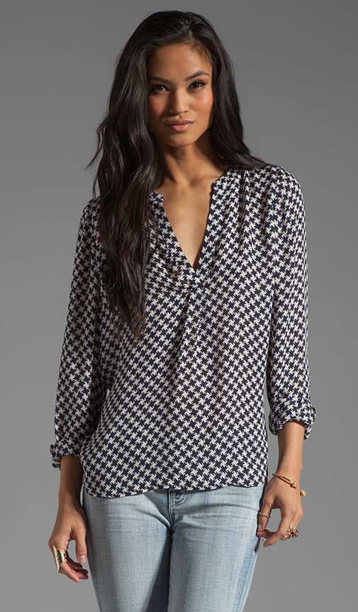 Peterson B Houndstooth Blouse