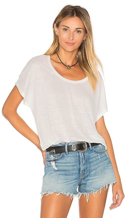 Joie Maddie Slub Top in White